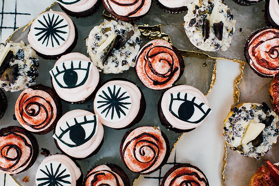 Eye shaped cupcakes