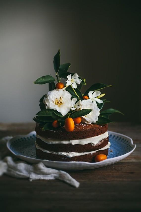 Pumpkin naked cake