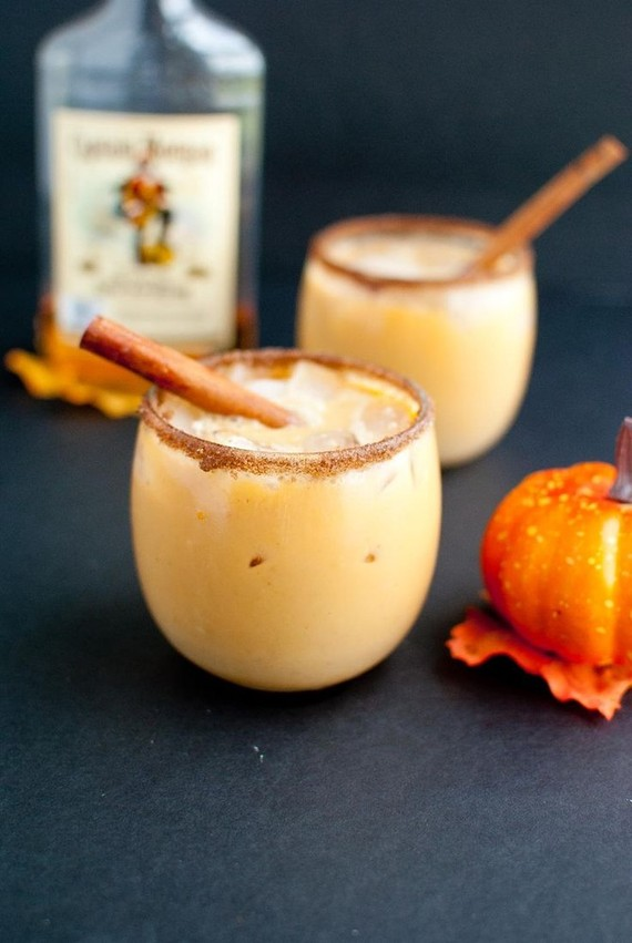 Pumpkin spiked horchata cocktail