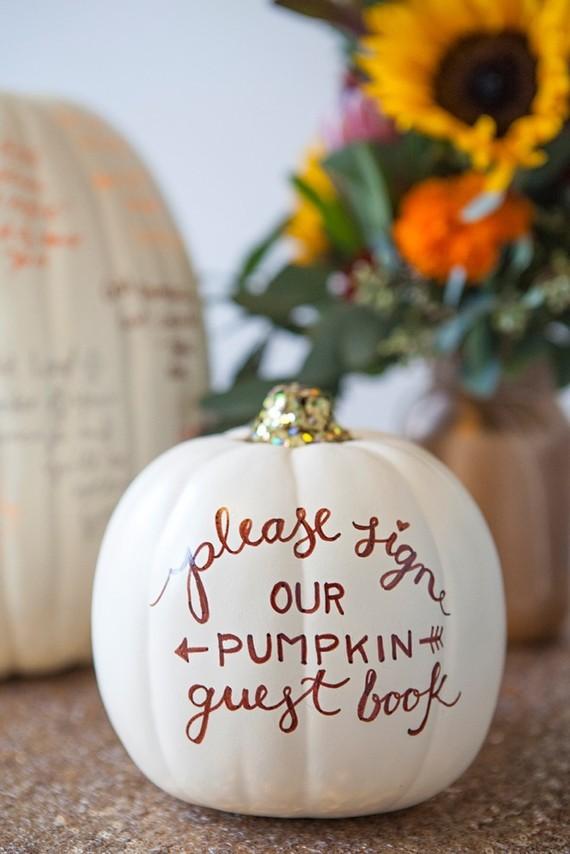 Pumpkin guest book