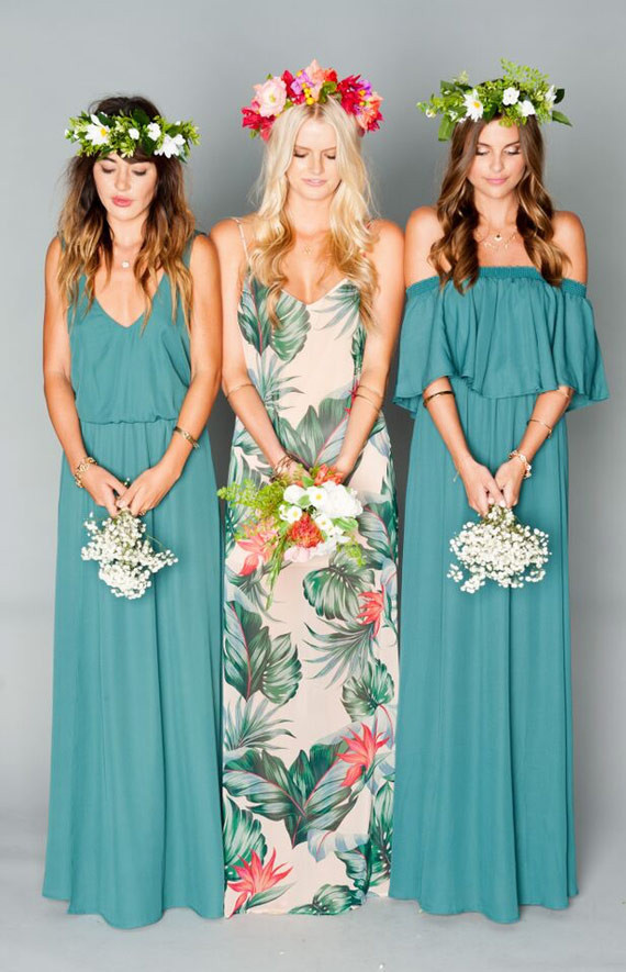 bohemian style bridesmaid gowns