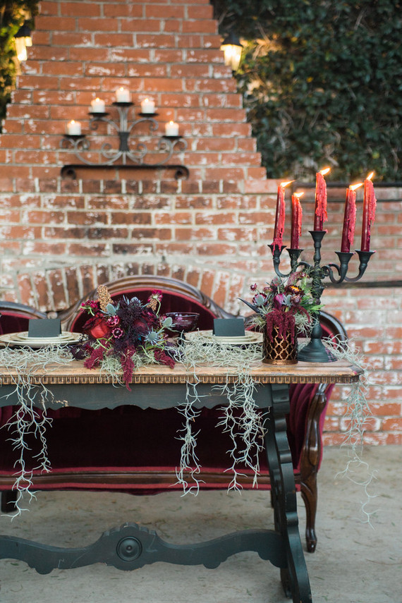 Bohemian halloween wedding inspiration
