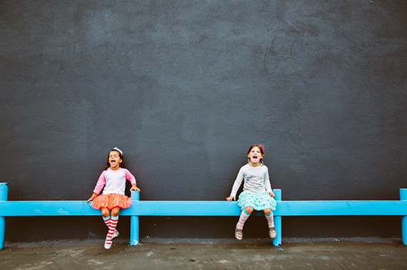bright urban kids portraits