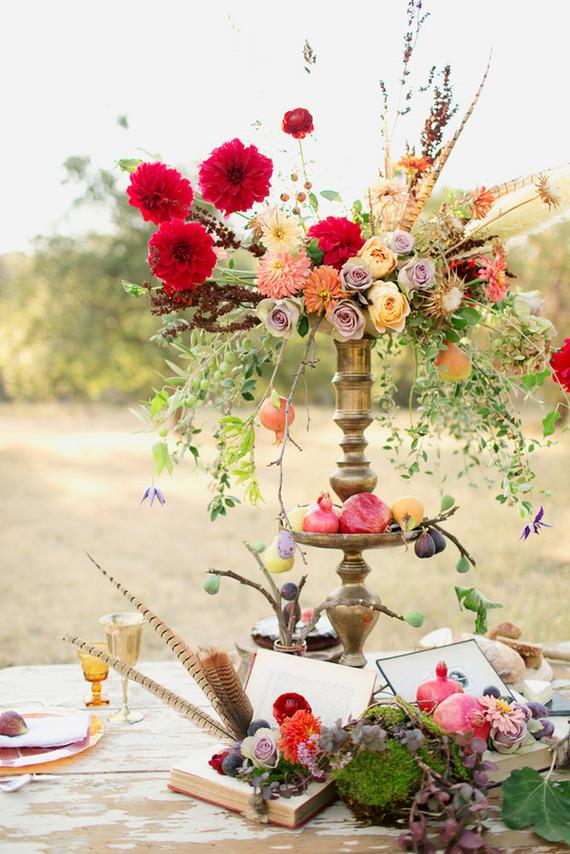 Fall wedding florals