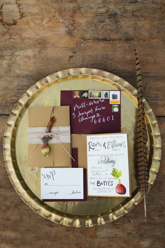 Fall wedding invitation suite