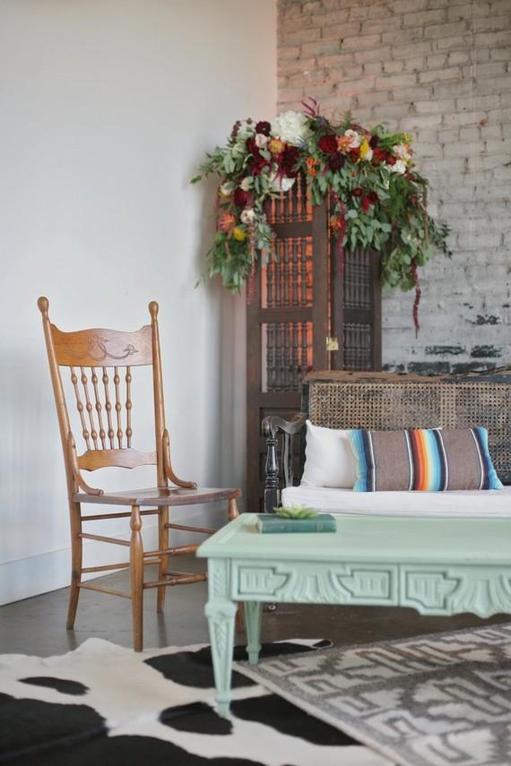 Bohemian lounge area