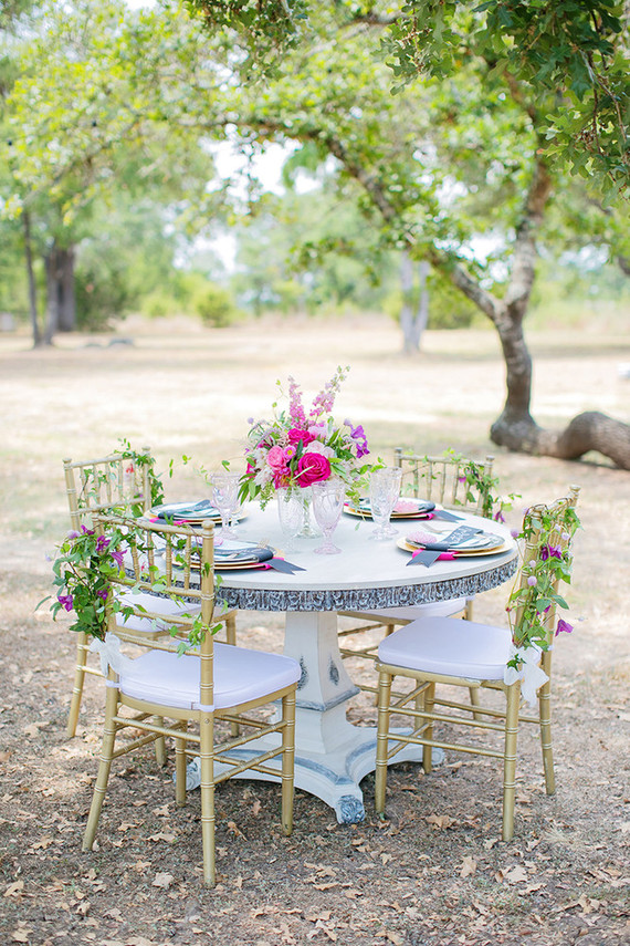Bridal shower tablescape