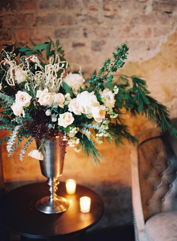 Winter wedding florals