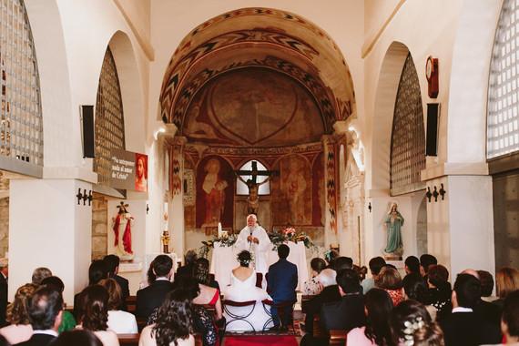 Romanesque church ceremony