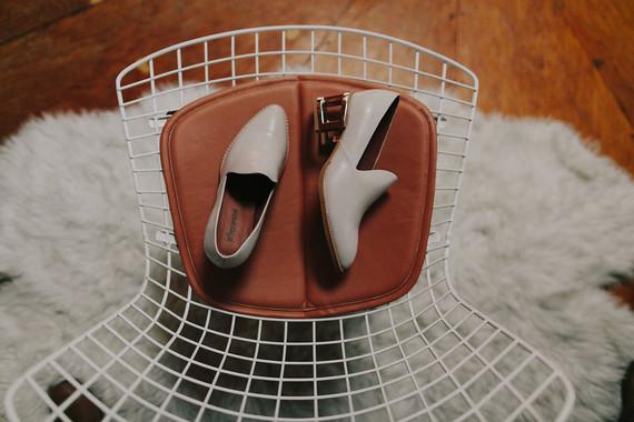 Vintage modern wedding shoes