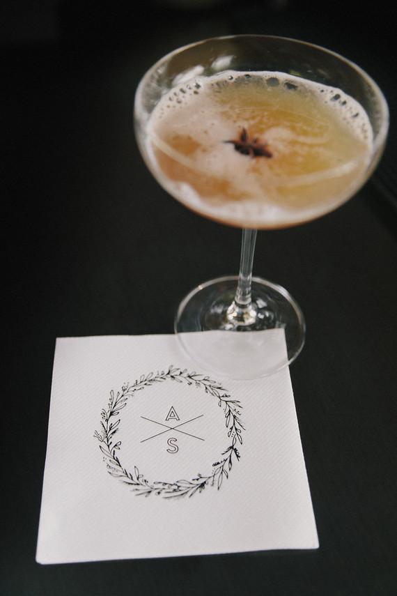 Monogramed cocktail napkins