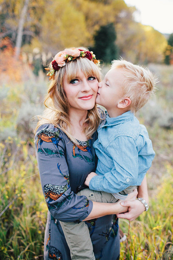Mother son fall photos
