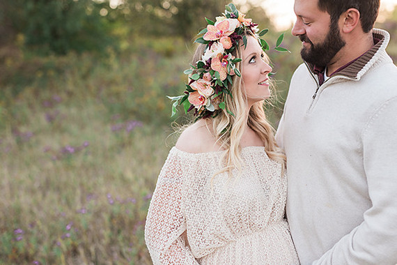 Sunset flower crown family maternity photos  69f62bcfbff