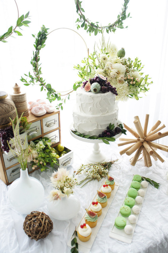 Foodie baby shower dessert table