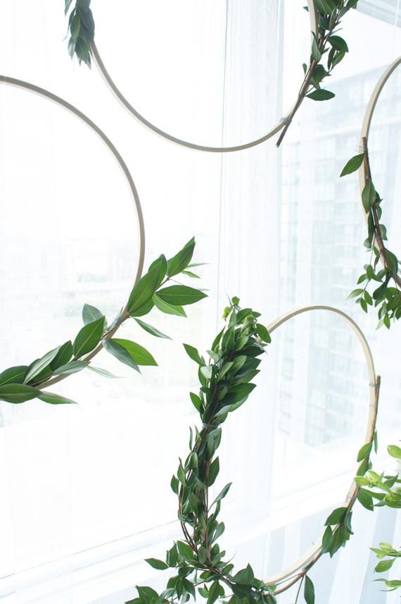 simple green wreaths