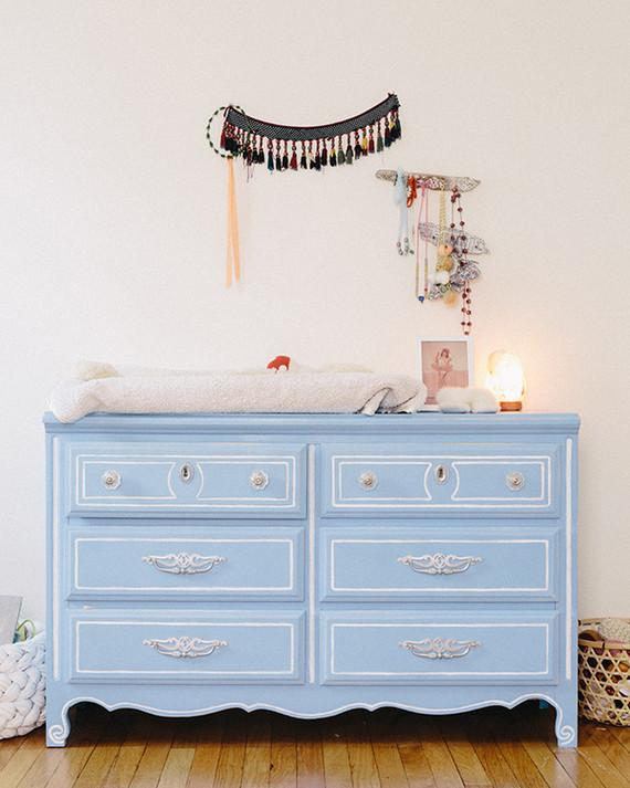 blue vintage dresser