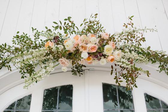 Wedding Ceremony Ideas Flower Covered Wedding Arch: DIY Floral Doorway Arch