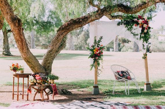 Bohemian ceremony altar