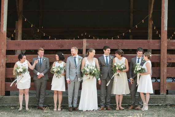 Ranch wedding party portrait