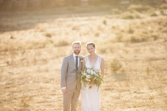Romantic ranch wedding portrait