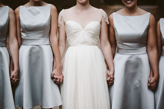 Silver bridesmaid dresses