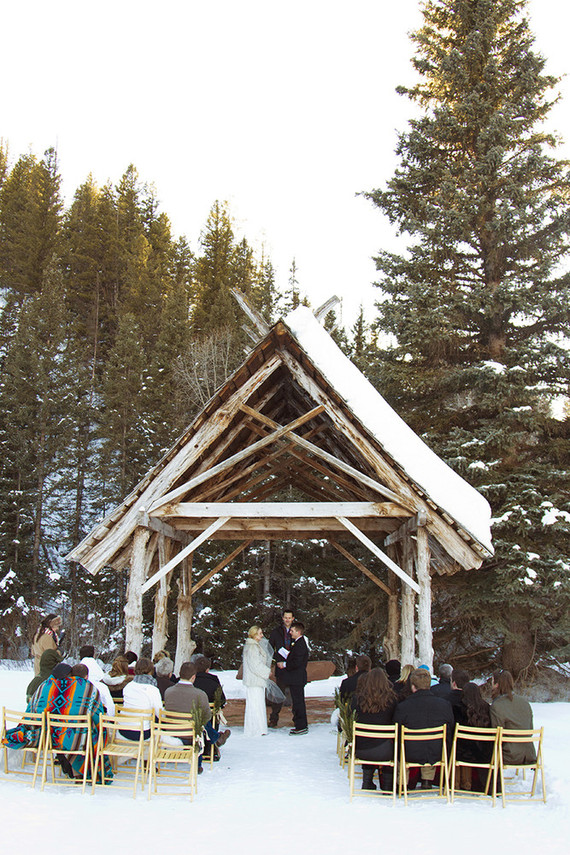 Outdoor winter ceremony