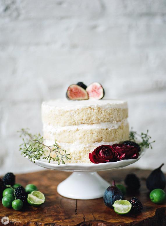 White naked cake