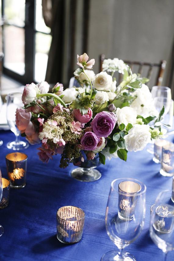 Classic blue tablescape