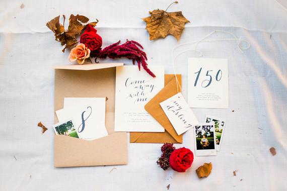 Autumn anniversary invitation