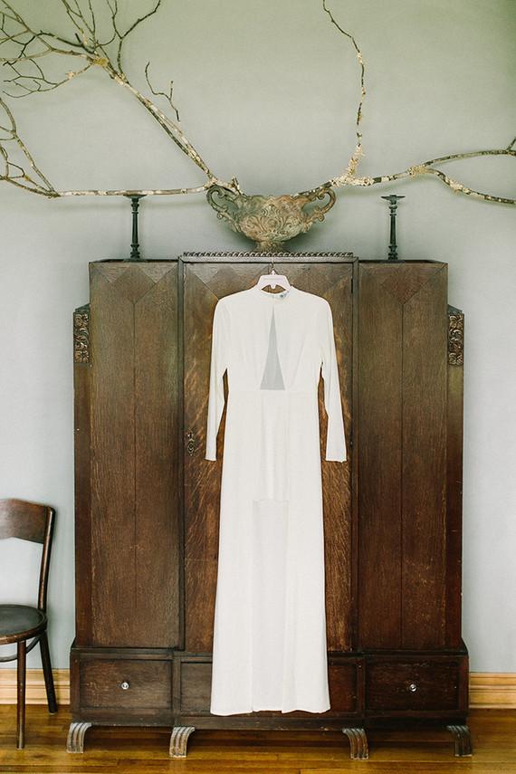 Halston Heritage wedding dress