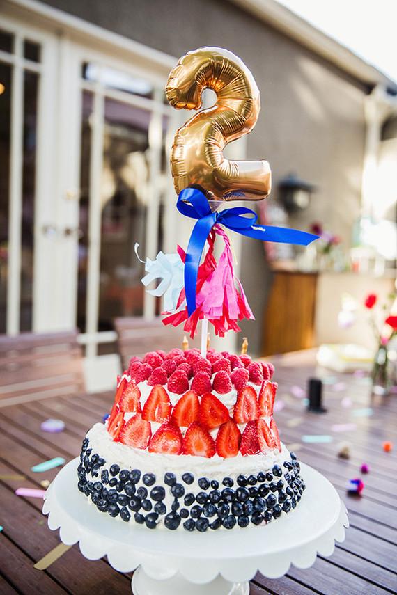 berry second birthday cake
