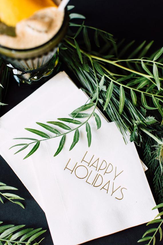 Holiday party napkins