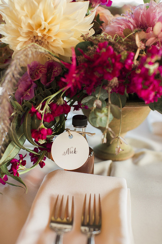 DIY maple syrup favors