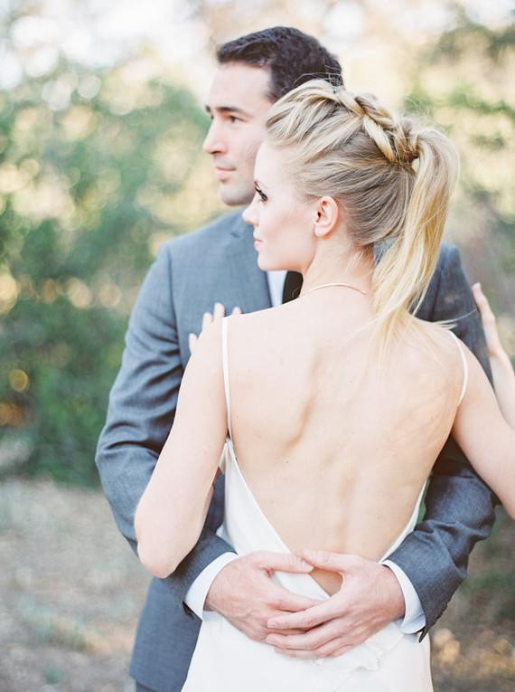 Modern bridal ponytail