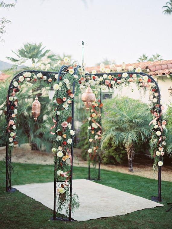 Rose floral arbor