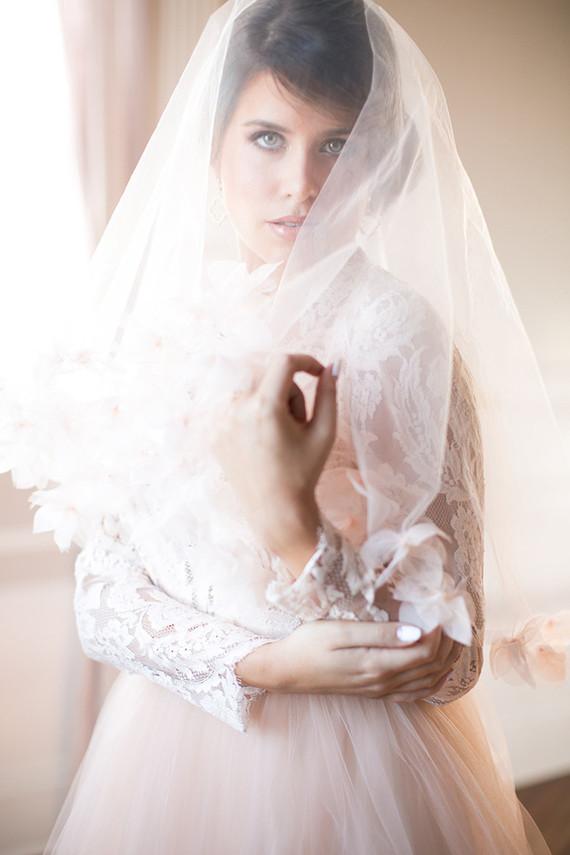 Blush veil