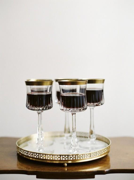 Vintage wine glasses