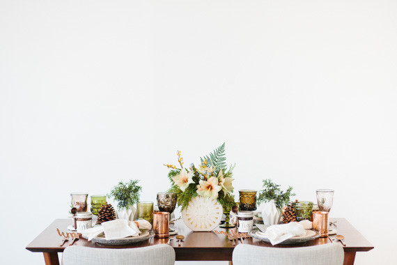 Modern Holiday Tablescape Inspiration Winter Tablescape