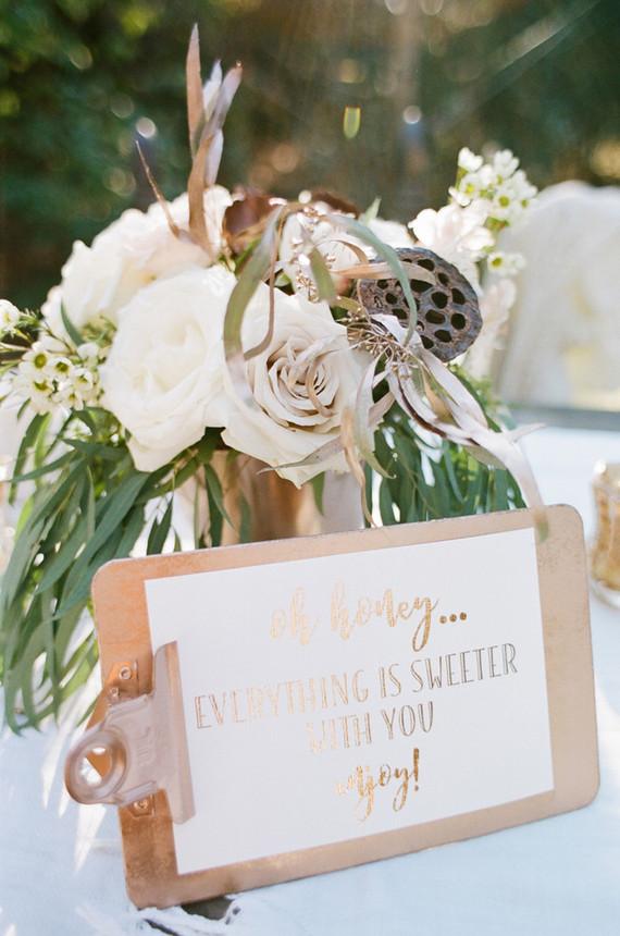 Copper and white winter wedding