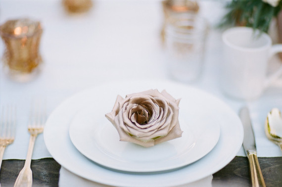 Rose place setting