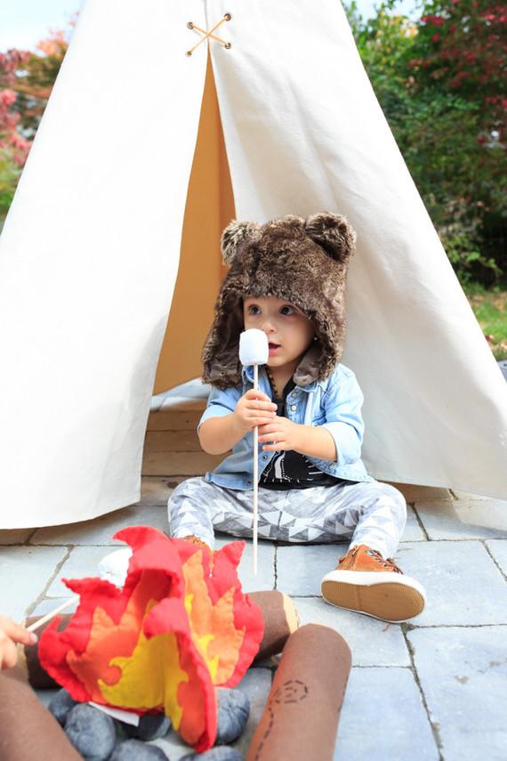 wintery camp themed birthday