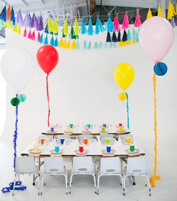 Modern rainbow 5th birthday party Kids Birthday Parties 100
