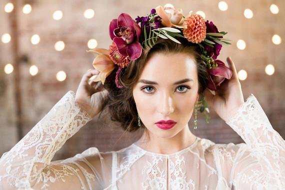 Modern floral crown