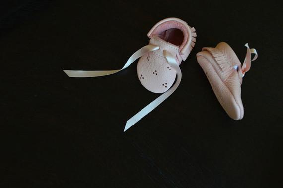 pink baby mocs