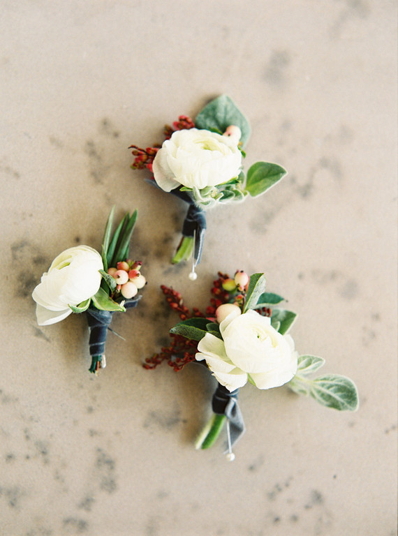 Summer wedding boutonnière