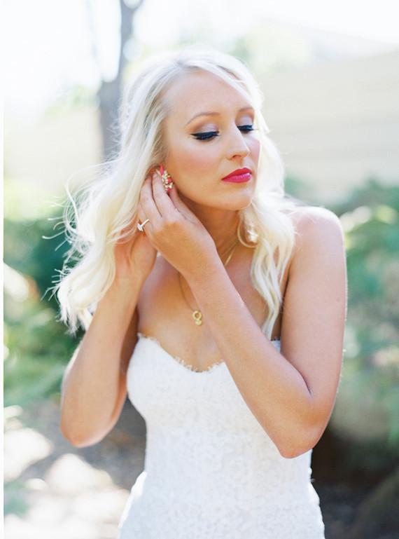 Strapless mermaid wedding dress