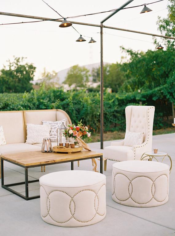 Elegant wedding lounge