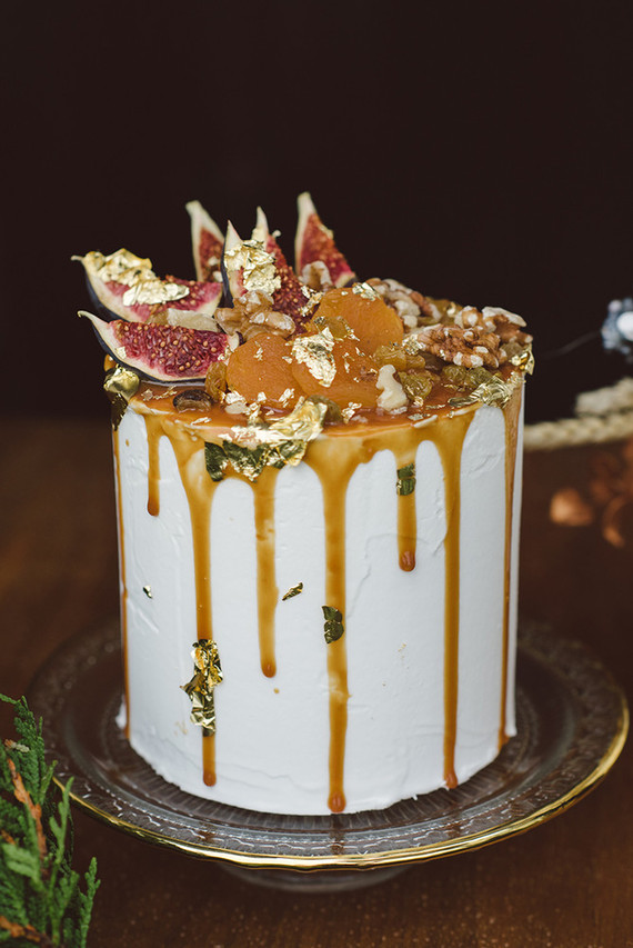 Decadent wedding cake