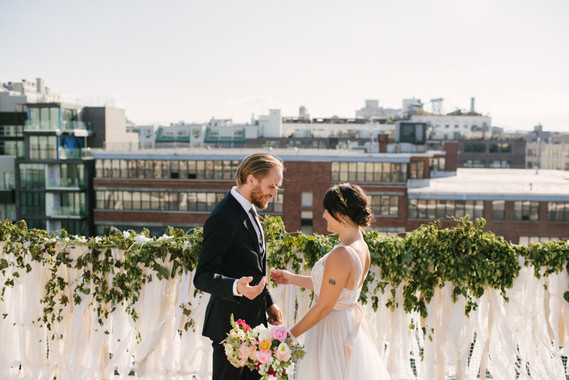 Rooftop Brooklyn wedding