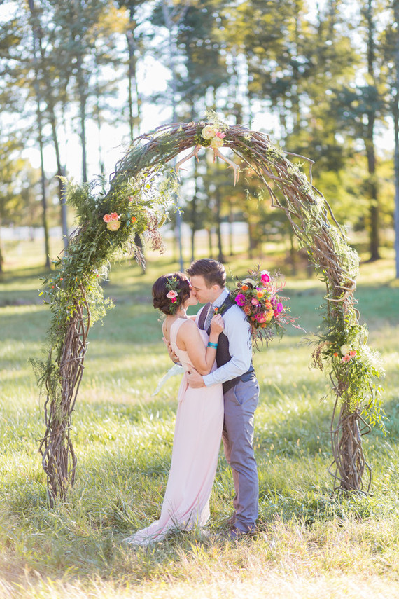 Colorful bohemian fall wedding inspiration